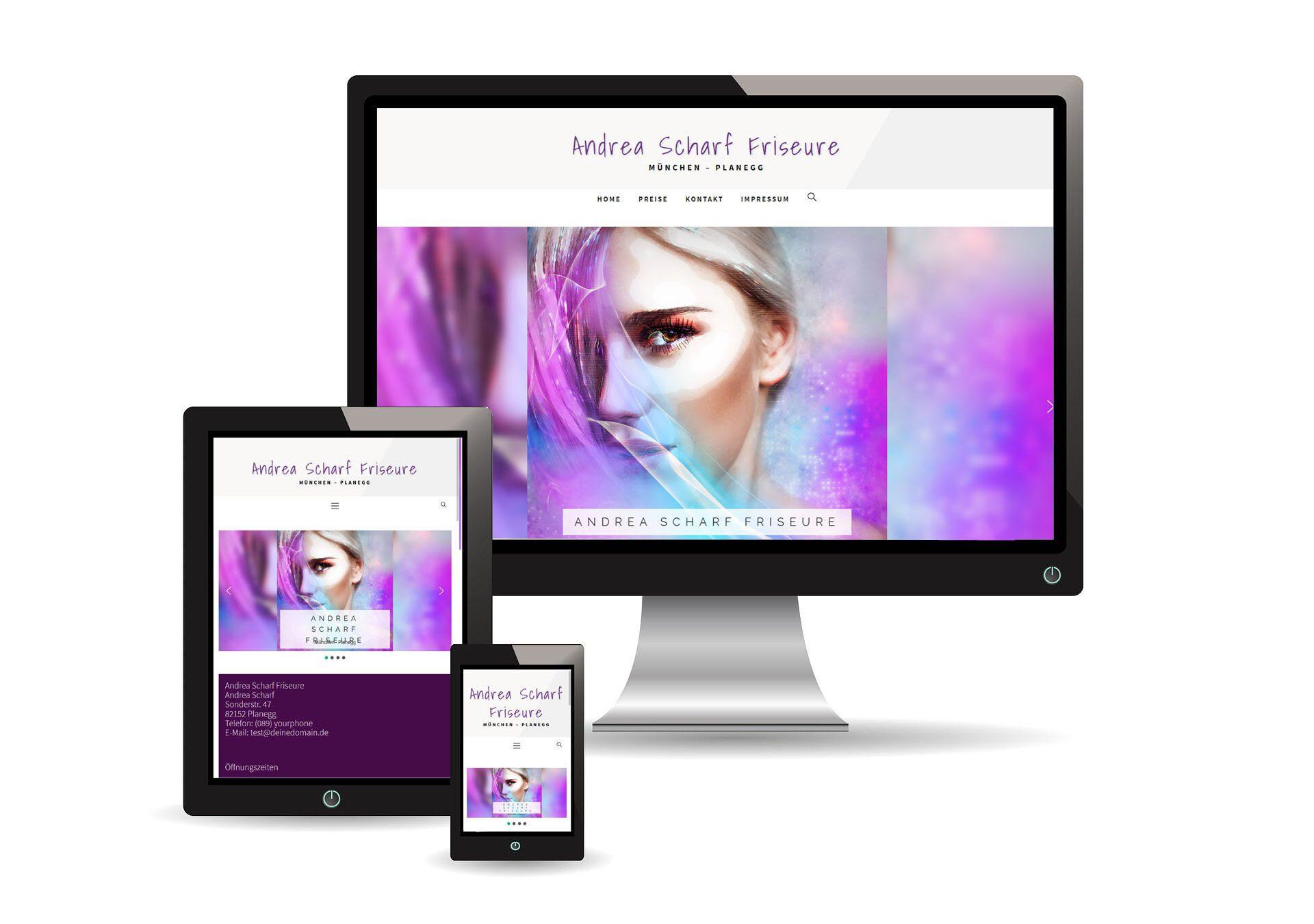 website coiffeur samples - günstige webseiten