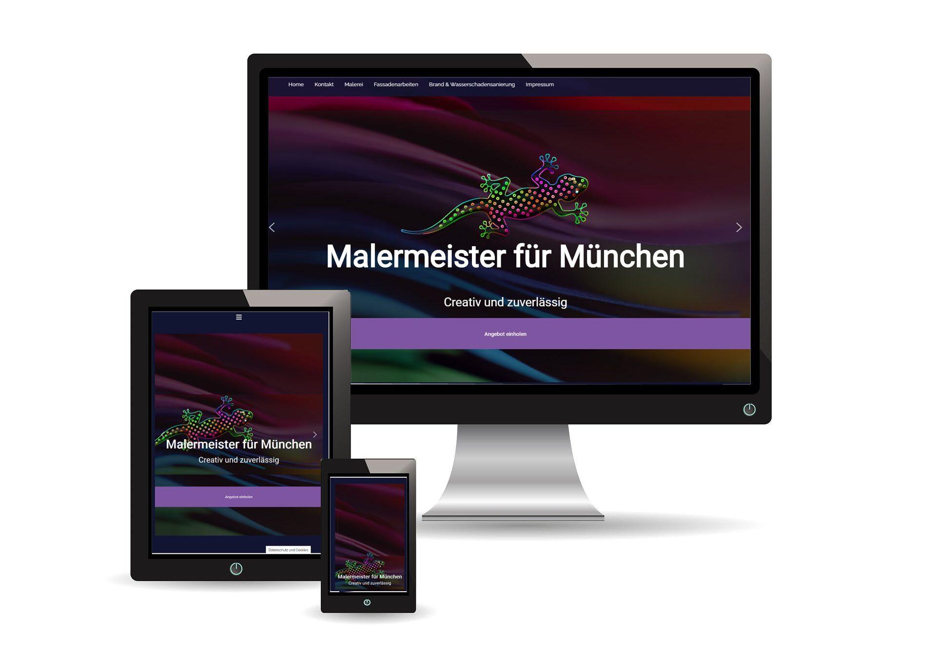 master handwerker sample website