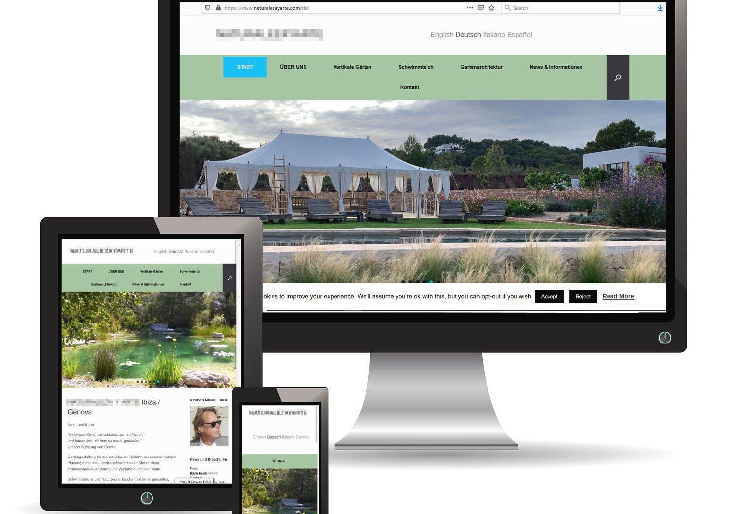 best website landscape sample